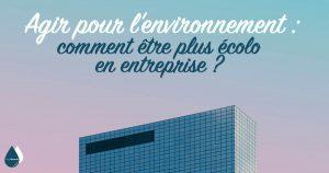 Agir pour l'environnement : comment être plus écolo en entreprise ?